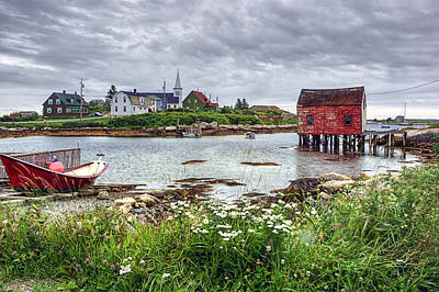 Fishing Village - Nova Scotia - Canada Poster