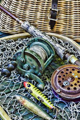 Fishing - Vintage Fishing Gear Poster