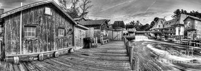 Fishtown Panorama In Black And White Poster