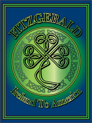Fitzgerald Ireland To America Poster