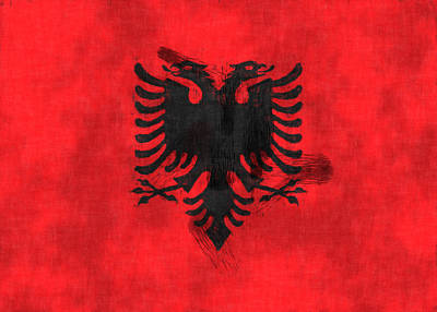 Flag Of Albania Poster by World Art Prints And Designs
