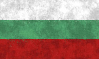 Flag Of Bulgaria Poster by World Art Prints And Designs