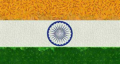 Flag Of India Poster by Dan Sproul
