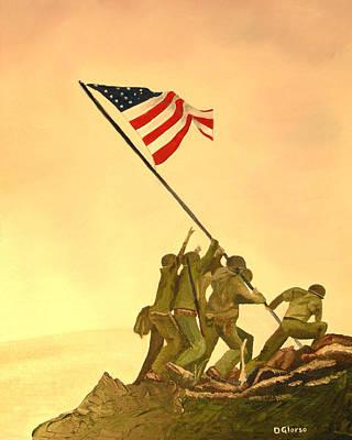 Flag Raising At Iwo Jima Poster