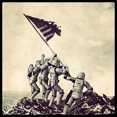 Flag Raising On Iwo Jima - Star Wars Poster