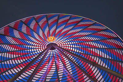 Poster featuring the photograph Flag Wheel by Darleen Stry