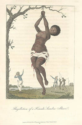 Flagellation Of A Slave Poster by British Library