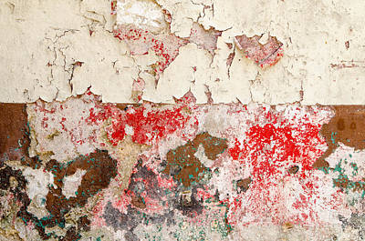 Flaking Paint Abstract. Havana Cuba. Poster by Rob Huntley