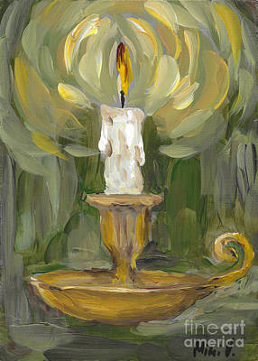 Poster featuring the painting Flame by Maria Langgle