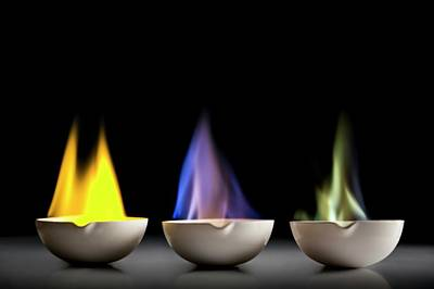 Flame Tests Poster by Science Photo Library