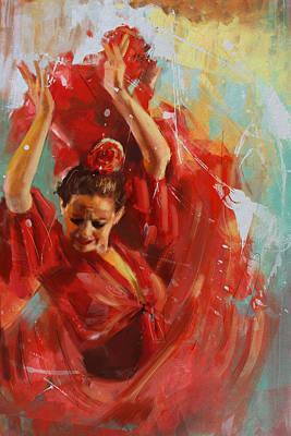Flamenco 33 Poster by Maryam Mughal