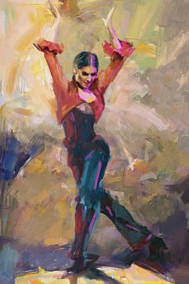 Flamenco 43 Poster by Maryam Mughal