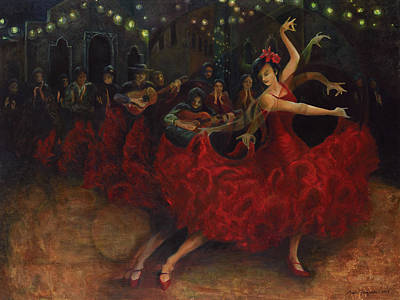 Flamenco Dancer Poster by Anika Ferguson