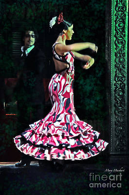 Flamenco Series No. 10 Poster by Mary Machare