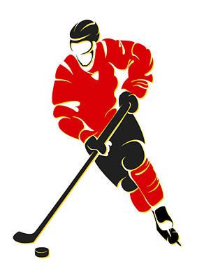 Flames Shadow Player Poster by Joe Hamilton