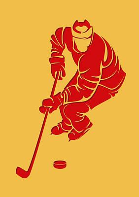 Flames Shadow Player3 Poster by Joe Hamilton