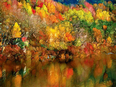 Flaming Autumn Abstract Poster by Georgiana Romanovna
