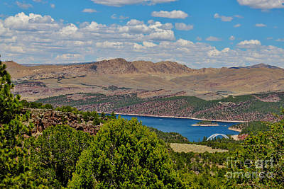 Poster featuring the photograph Flaming Gorge by Janice Rae Pariza