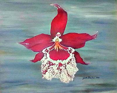 Flaming Orchid Poster