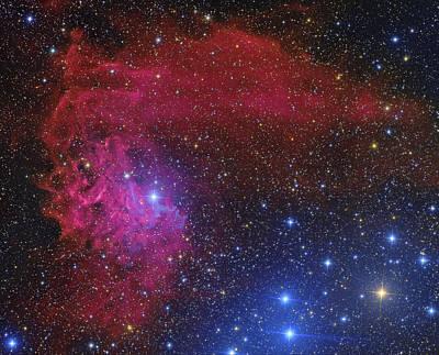 Flaming Star Nebula Poster by Roberto Colombari