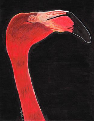 Flamingo Art By Sharon Cummings Poster by Sharon Cummings