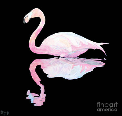 Flamingo Poster by Eric Kempson