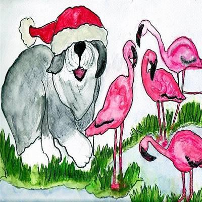 Flamingo Herder Poster