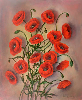 Flander's Poppies Poster by Randy Burns