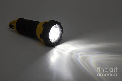 Flashlight Using White Leds Poster by GIPhotoStock