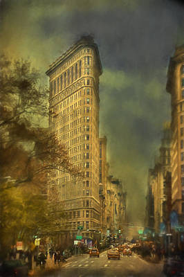 Flat Iron Building Poster by Kathy Jennings