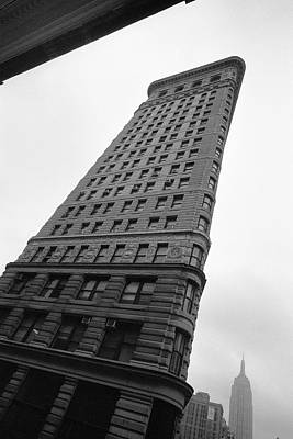 Poster featuring the photograph Flat Iron Building Nyc Tilt by Dave Beckerman