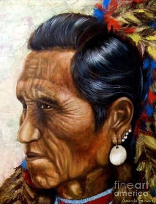 Flathead Indian Chief Poster by Amanda Hukill