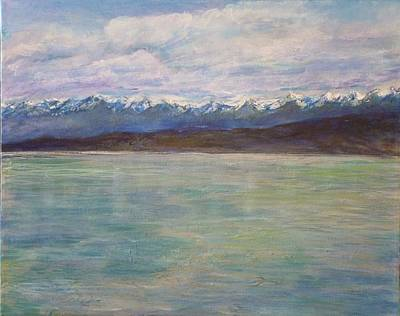 Flathead Lake Montana Poster by Helen Campbell