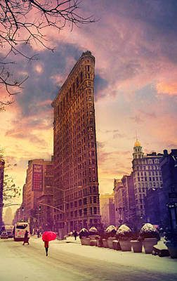 Flatiron Winter Poster by Jessica Jenney