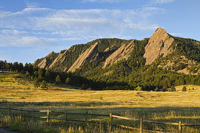 Flatirons From Chautauqua Park Poster by James BO  Insogna