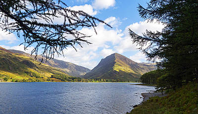 Fleetwith Pike And Buttermere From Burtness Wood Poster