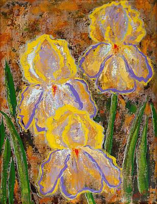 Fleur D' Iris Poster by Margaret Bobb