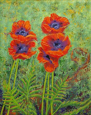 Fleurs Des Poppies Poster by Margaret Bobb