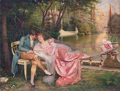 Flirtation Poster by Frederick Soulacroix