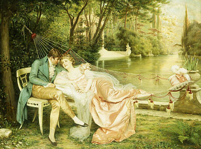 Flirtation  Poster by Joseph Frederick Charles Soulacroix