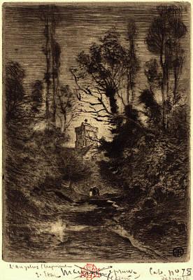 Félix-hilaire Buhot, French 1847-1898, La Ronde De Nuit Poster by Litz Collection