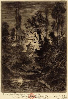Félix-hilaire Buhot French, 1847 - 1898, La Ronde De Nuit Poster by Quint Lox