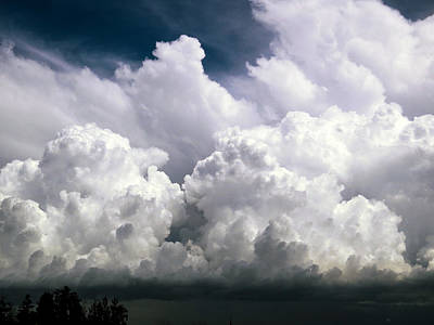 Floating Clouds I Poster