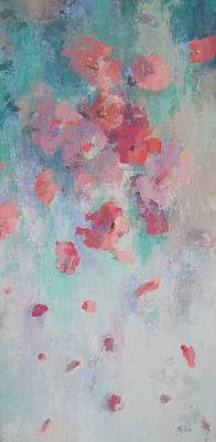 Floating Flowers Painting Poster