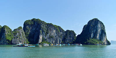 Floating Village Ha Long Bay Poster by Scott Carruthers