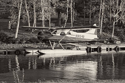 Floatplane On Moosehead Lake In Maine Poster by Keith Webber Jr