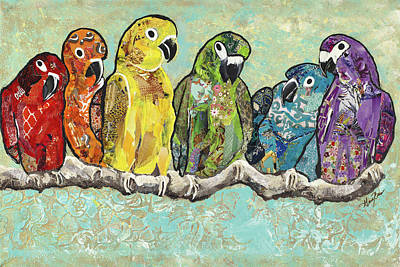 Flock Of Colors Poster by Gina Ritter