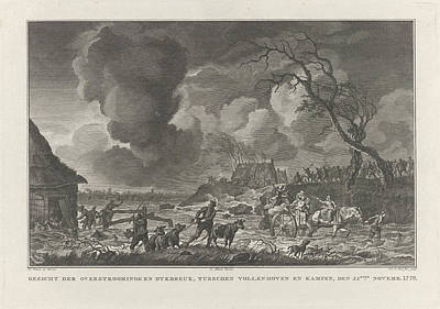 Flooding Between Vollenhove And Kampen, 1776 The Netherlands Poster by Quint Lox