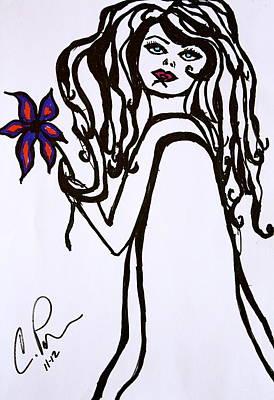 Flor De Amber Poster