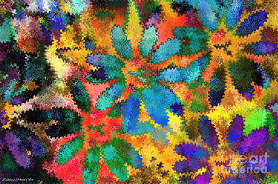Floral Abstract Photoart Poster by Debbie Portwood